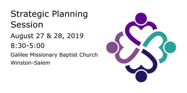 strategic planning session August 27th and 28th, 2019 from 8:30 to 5:00